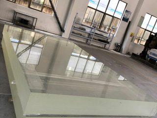 1-calowy arkusz ze szkła akrylowego Plexi, gruby plastikowy arkusz pmma do pokrywania szklarni