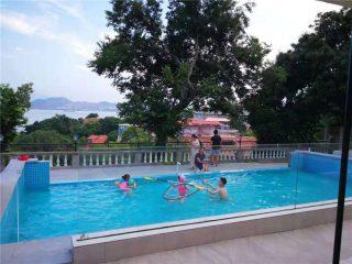 Grubości 100 mm 150 mm Luksusowy basen ze szkła akrylowego plexi dla dużych basenów
