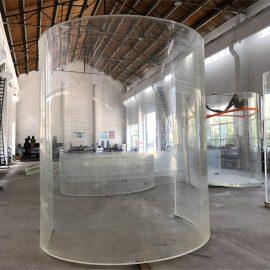zakrzywiona płytka szklana z pleksi z akrylu lucytowego do oceanicznego akwarium