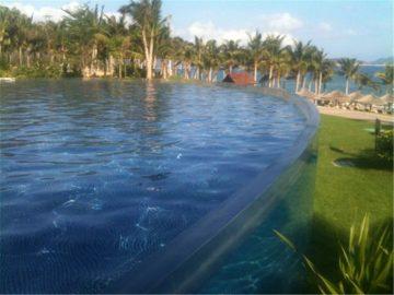 Niestandardowy panel akrylowy do pływania w basenie nurkowym