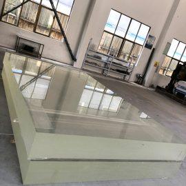 Przezroczysty, przezroczysty arkusz akrylowy odlany z grubego plastikowego panelu ściennego