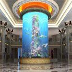 duży akrylowy zbiornik na ryby