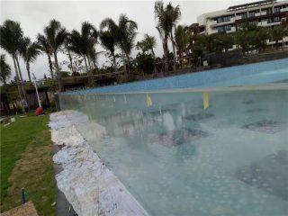 niestandardowe akrylowe panele do basenów o szlifie zewnętrznym