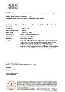 Certyfikat testu ROHS EN